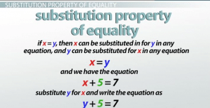 Substitution Property of Equality: Definition & Examples